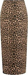 New-Plus-Size-Womens-Ladies-Long-Length-Stretch-Animal-Leopard-Print-Maxi-Skirt