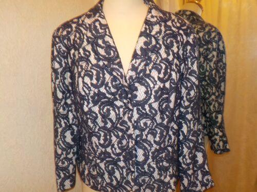 16 Taglia Sg70090 Bacconi Gina Navy Lace crema Jacket 8x0qH