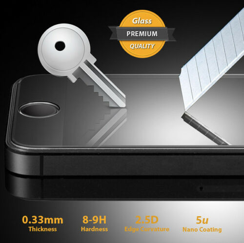 Genuine Tempered Glass 2.5D Cover Screen Protector for Apple iPhone 4 4S