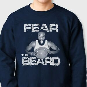 6bf2668bf69 FEAR THE BEARD James Harden T-shirt Basketball Rockets Crew Neck ...