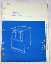 IBM 5114 Diskette Unit Maintenance Manual SY31-0551-0  *First Edition Jan 1978*