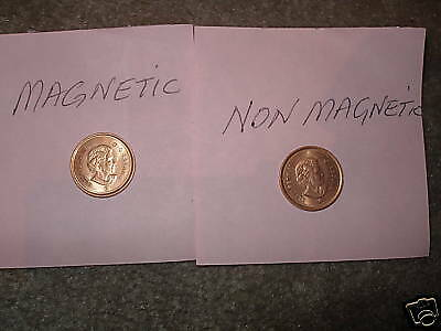 Canada 2 Varieties 2009 Penny Magnetic /& Non Magnetic Mint Grade Coins.
