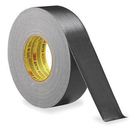 3M 8979 Duct Tape,2 In x 60 yd,12.6 mil,Black