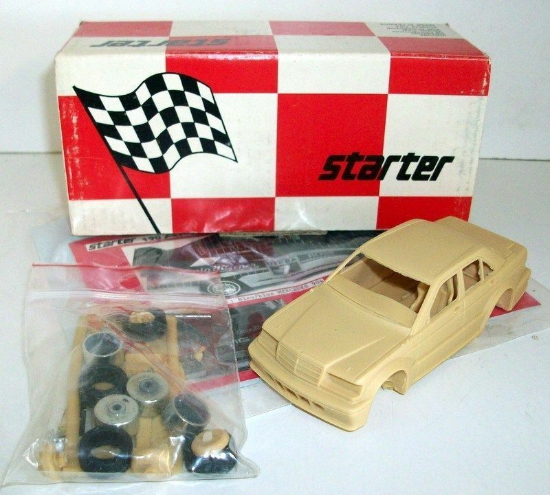Starter 1 43 Scale Unbuilt Kit - SX21B Mercedes 190 AMG Circuit GrA 1990 2 Vers