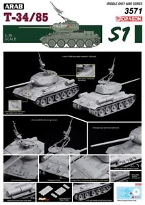 Dragon-3571-1-35-The-Six-Jour-Guerre-Arab-T-34-85-Neuf