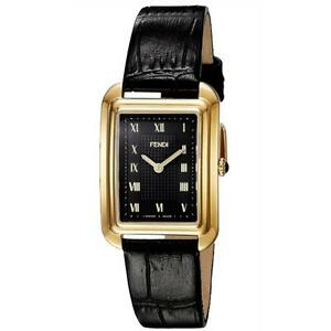 fendi womens classico rectangle black small swiss