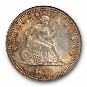 1876-S-25c-Seated-Liberty-Quarter-NGC-MS-64-Uncirculated-Beautifully-Toned