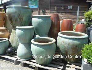 Image Is Loading Extra Large Pots And Opal Green Glazed