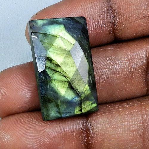 100/% Natural Gorgeous Checker Cut Golden Flash Labradorite Loose Gemstone H