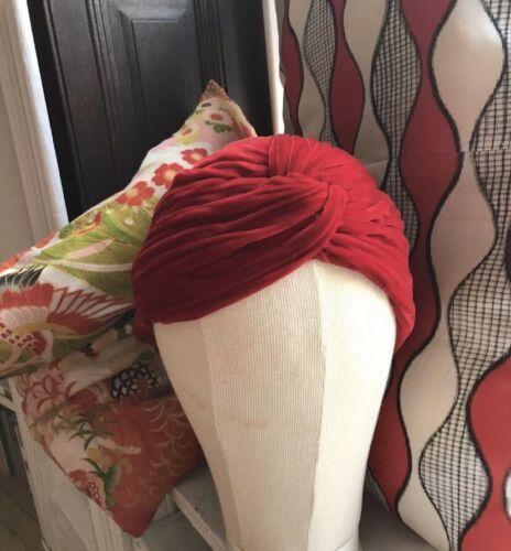 1940s Vintage Silk Velvet Turban Hat