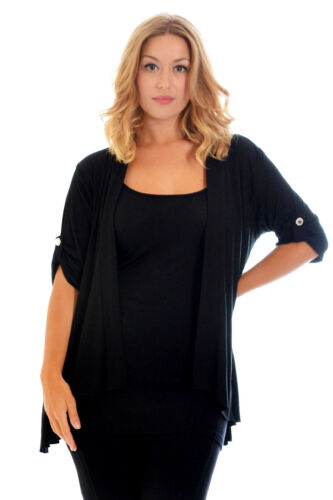 Womens Waterfall Cardigan Ladies Plus Size Top Open Front Jumper Warm Nouvelle
