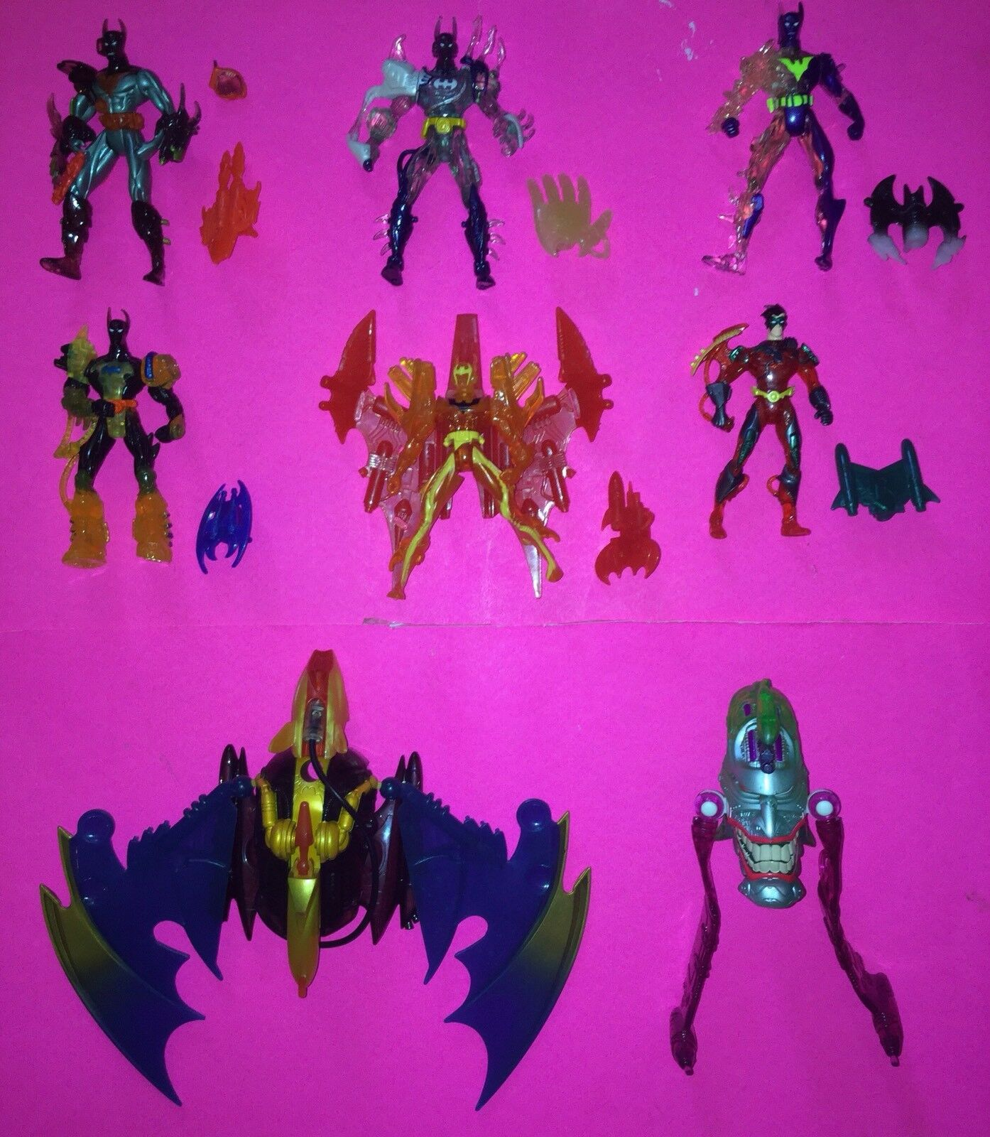 Lot of 8 Batman Beyond Batlink Action Figures (1999 Hasbro)
