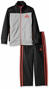 NEW-adidas-Boys-039-Tricot-Zip-up-Jacket-and-Pant-Set-Choose-Size