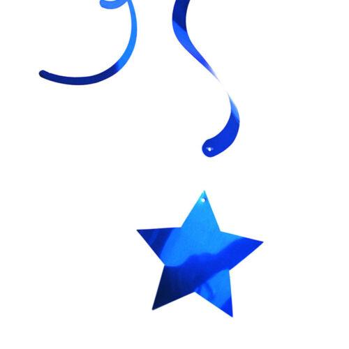 12PCS Hanging Swirl Star Xmasations Birthday Party Wedding Baby Shower NEWEST