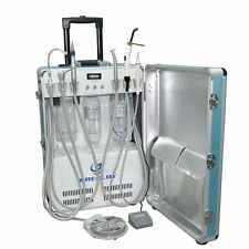 Dental Portable Unit+Air Compressor+Triplex Syringe+Curing Light+Piezo Scaler 4H