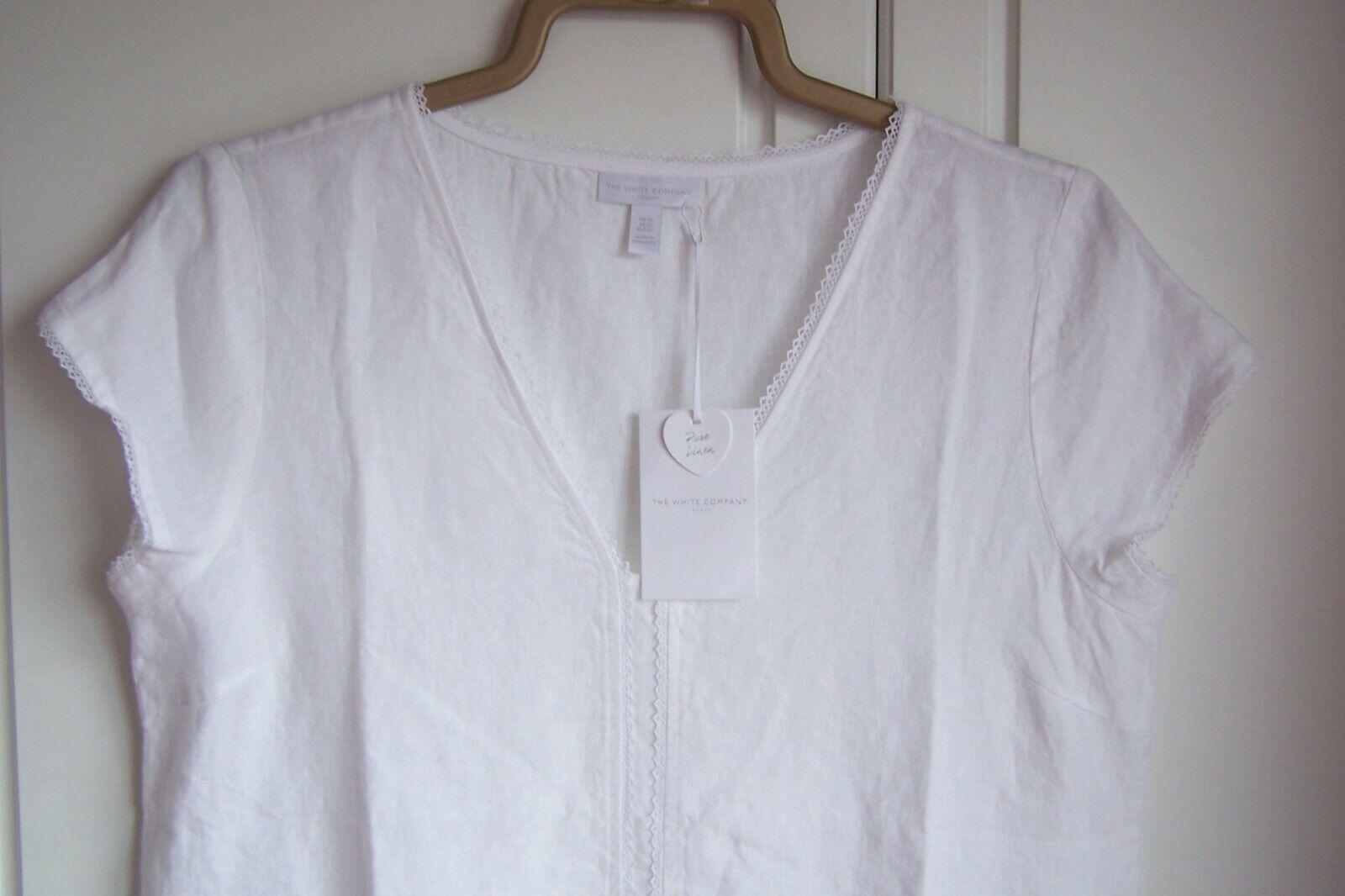THE WHITE COMPANY 100% PURE LINEN KNEE LENGTH DRESS - SIZE 14 BNWT RRP