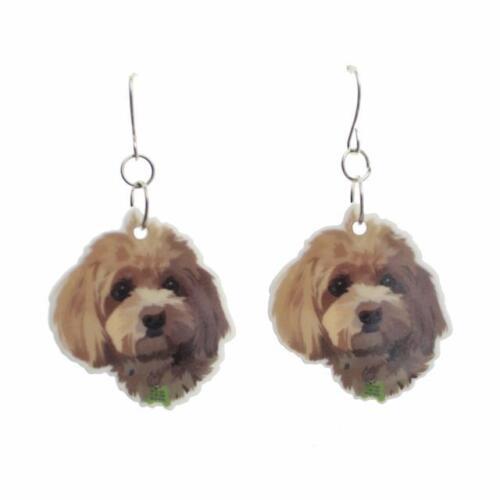 Láser de corte de acrílico pendientes o collar de un perro libre de Reino Unido P/&p Shaggy. CG0460//1
