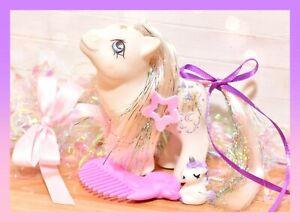 ❤️My Little Pony MLP G1 Vtg Baby Princess Sparkle PURPLE Variant Duck Comb❤️