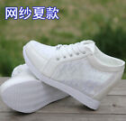 2016 Womens Floral Lace Summer High Top Hidden Wedge Heel Sneakers Trainer SHoes