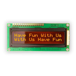 New-Version-16X2-1602-Character-LCD-Module-Orange-on-Black-5V-HD44780
