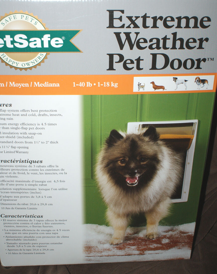 PetSafe Extreme Weather Door Mount Pet Door Medium 1-40 lbs.NEW