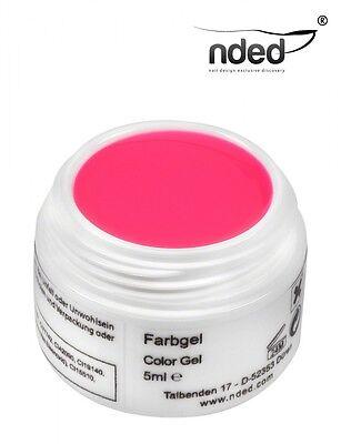 GEL ROSA UV  NEON GLOW PINK   5ml  Nded Alta Calidad -  Nails Art