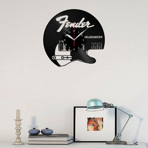 "Fender Telecaster Vinyl Record Wall Clock Fan Art Home Decor 12/"" 30cm 1962"