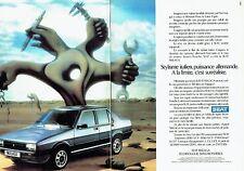 PUBLICITE ADVERTISING 0217  1986  la Seat Malaga 1200 (2 pages)
