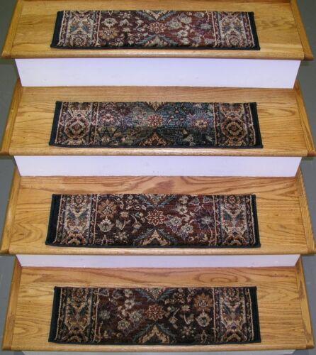 "Set of 13 Treads 26/"" x 7.5/"" Multi 173051-Rug Depot Premium Carpet Stair Treads"