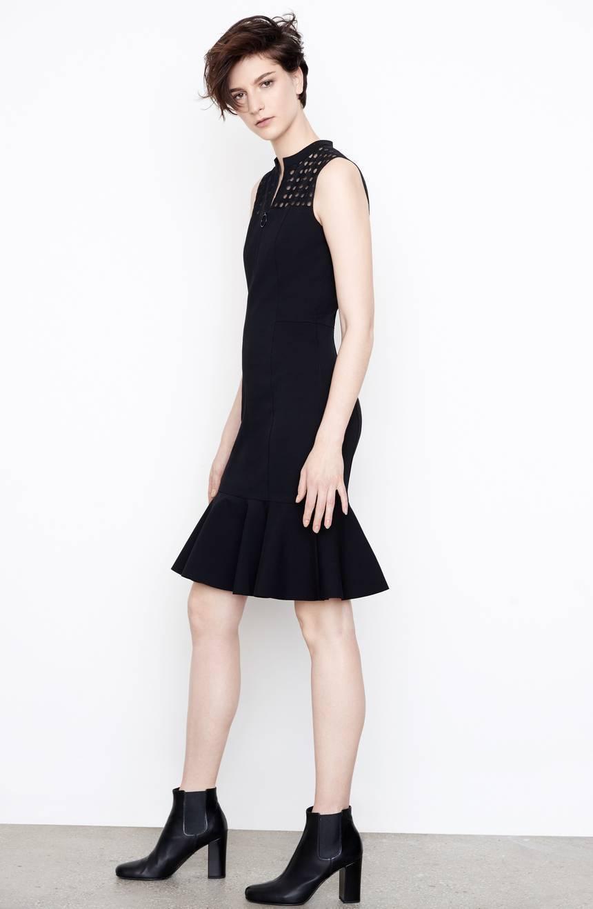 Akris Punto Lace Yoke Jersey Dress  ( Size US 6-F 38-D36- IT42 )