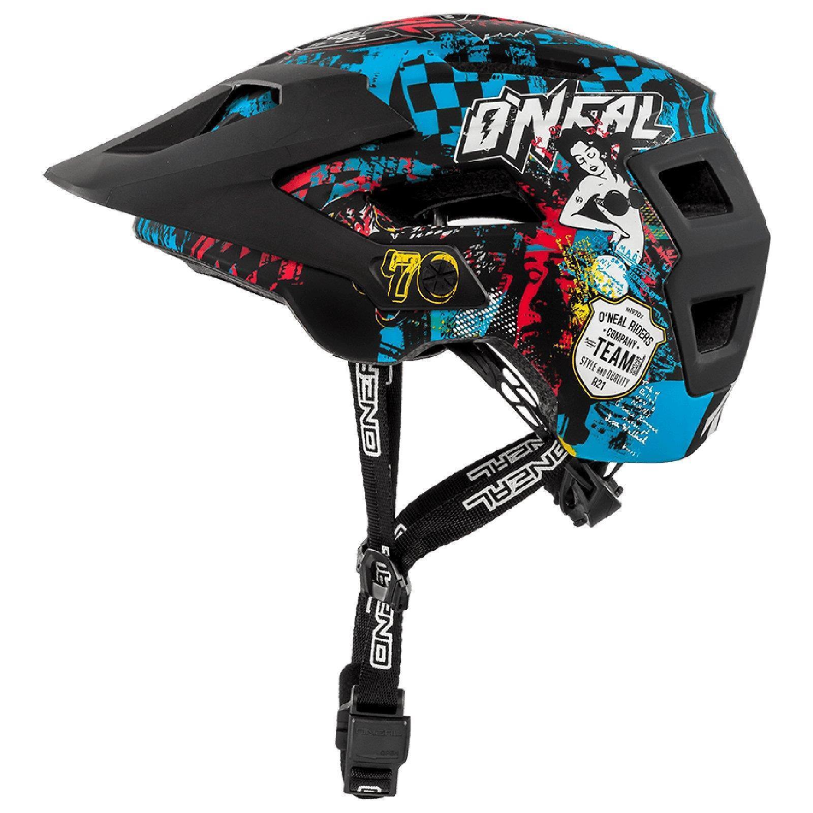 ONeal Defender 2.0 Wild Fahrrad Helm All Mountain Bike MTB Magnet Enduro black