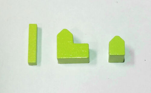 settlements /& cities Wooden Pieces for Settlers of Catan Lime Green roads