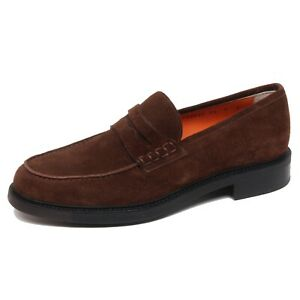 check-out 3bf68 3d071 Details about F5710 mocassino uomo brown SANTONI scarpe loafer shoe man