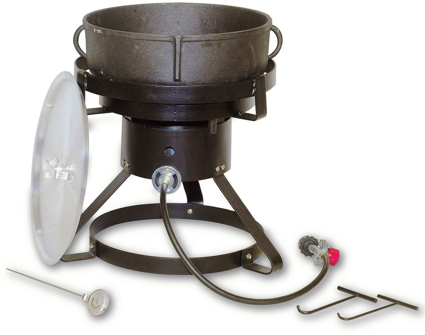 5 Gallon Outdoor Stew Cooker Propane Cast Iron Pot Camping Tailgating Jambalaya