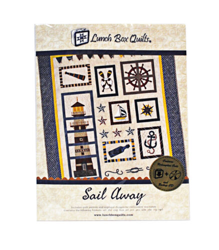Lunch Box Quilts Sail Away Embroidery CD /& Redemptoin Code