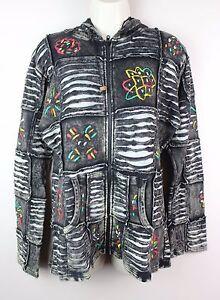Hippy-Boho-Hoodie-Patchwork-Jacket-Razorcut-Embroidery-Top-Festival-Cotton-PJ14