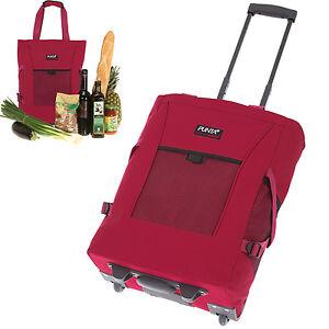 Shopper-PUNTA-Wheel-Einkaufstrolley-Einkaufskorb-Einkaufsroller-red-0200-ROT-UNI