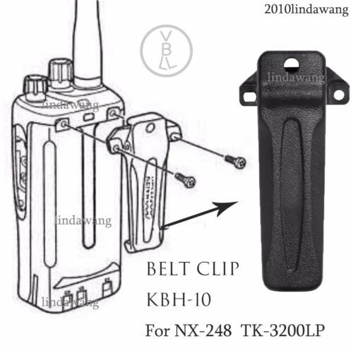 Belt Clip KBH-10 for Kenwood TK-2302 TK-3302 TK-2402  Portable Radio
