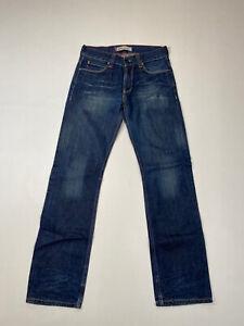 LEVI-039-S-506-Straight-Jeans-W31-L34-Bleu-Marine-Tres-bon-etat-Homme