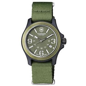 Victorinox-Original-Green-Men-039-s-Quartz-Military-Watch-241514