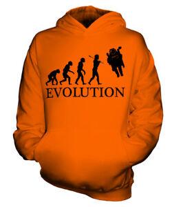 RAUMFAHRER EVOLUTION DES MENSCHEN KINDER KAPUZENPULLOVER HOODIE JUNGEN MÄDCHEN