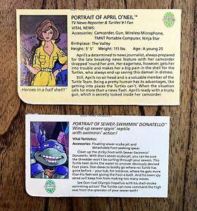 April-O-039-Neil-amp-Wacky-Donatello-TMNT-Ninja-Turtles-Figure-File-Bio-Card-Lot-Don