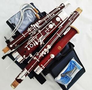 customized grain Maple Wooden Bassoon C Tone WBS-880 2 Bocals rucksack Case