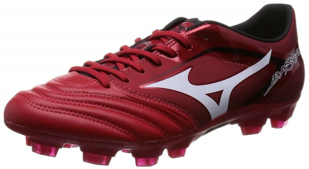 MIZUNO soccer scarpe Spike BASARA 001 KL P1GA1562 rosso X bianca