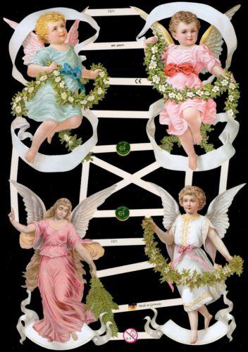 VICTORIAN ANGELS DIE CUT PAPER SCRAPS ef7371 GERMANY VICTORIAN CRAFTS