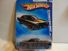 2009 Hot Wheels #79 Black '70 Plymouth Road Runner w/Copper Rim OH5 Spoke Wheels