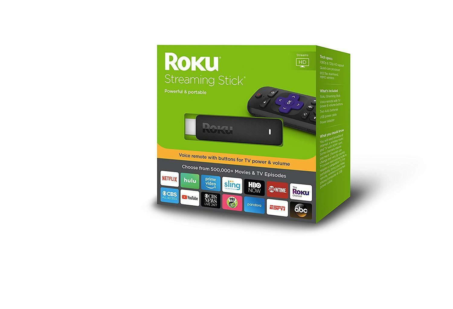 Roku Stick   Portable HD Streaming Player, Latest Model Brand NEW Sealed Featured
