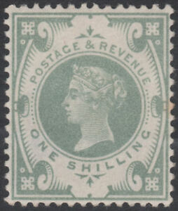 1887-JUBILEE-SG211-1s-DULL-GREEN-EXTREMELY-LIGHTLY-HINGED-IF-AT-ALL