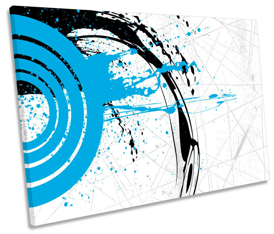 Abstract Grunge Ink  SINGLE CANVAS Wand Kunst Framed Drucken
