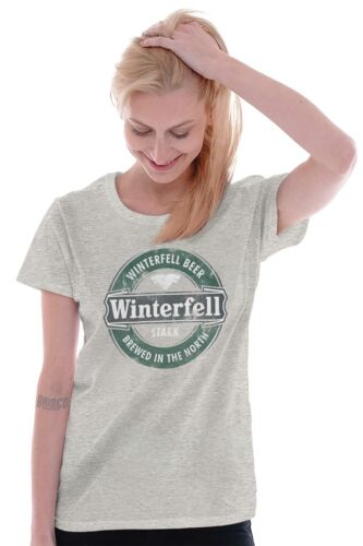 Winterfell Beer Brewed in North Funny Shirt Throne Game Drink Ladies Tee Shirt T